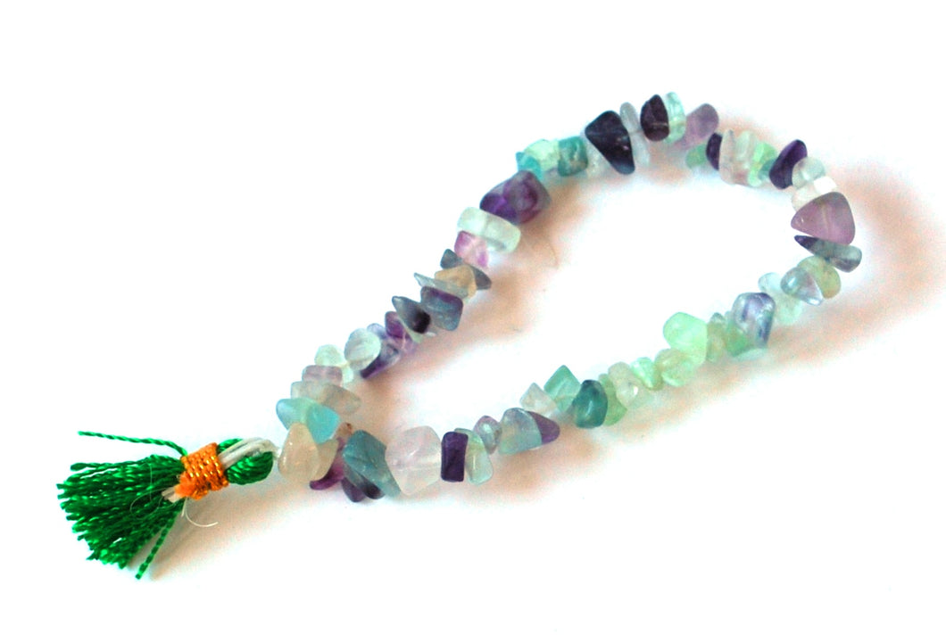 Fluorite Multi Chips Crystal Power Bracelet Gift Wrapped With Description Card.