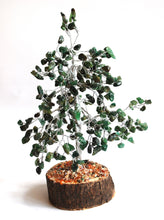 Load image into Gallery viewer, Green Aventurine Crystal Chip Wire Wrapped Gemstone Tree