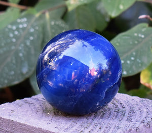 New! Large Solid Natural & Unique Large Blue Onyx Crystal Stone Polished Sphere Ball