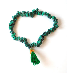 Malachite Crystal Polished Chips Power Bracelet