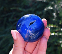 Load image into Gallery viewer, New! Large Solid Natural & Unique Large Blue Onyx Crystal Stone Polished Sphere Ball