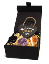 Load image into Gallery viewer, New! 'Smile, Dream, Love' Natural Healing Crystal Gift Boxed Gift Set