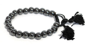 Natural Hematite Crystal Stone Beads Extendable Bracelet