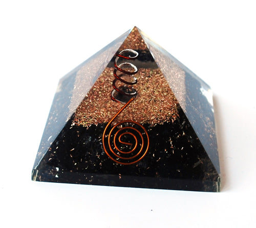 Large Natural Black Tourmaline Crystal Stones Large Orgone Pyramid