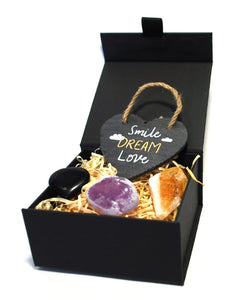 New! 'Smile, Dream, Love' Natural Healing Crystal Gift Boxed Gift Set