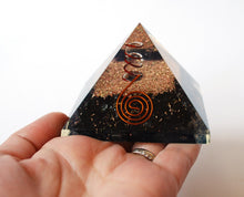 Load image into Gallery viewer, Large Natural Black Tourmaline Crystal Stones Large Orgone Pyramid