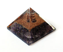 Load image into Gallery viewer, Amethyst Large Crystal Stones Orgone Orgonite Energy Generator Pyramid