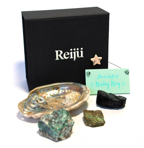 New! 'Beautiful Baby Boy' Natural Healing Crystal Gift Boxed Gift Set