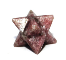 Load image into Gallery viewer, Lepidolite Crystal Stone Merkaba Star Gift Wrapped