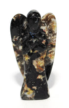 Load image into Gallery viewer, Natural Black Tourmaline Hand Carved Crystal Stone 'Protection' Angel Figure (Seconds Not Perfect)