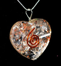 "Load image into Gallery viewer, New! Selenite Crystal Heart Pendant Inc 18"" Silver Chain Necklace"