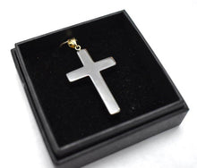 Load image into Gallery viewer, New! Hematite Natural Crystal Cross Pendant Necklace With Silver Chain & Gift Box