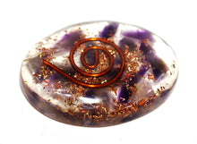 Load image into Gallery viewer, Amethyst Crystal Chips Orgone Palm Stone