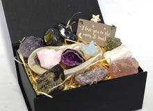 Load image into Gallery viewer, New! Beautiful Inside & Out Natural Crystals Gemstones 14 Piece! Gift Set Box