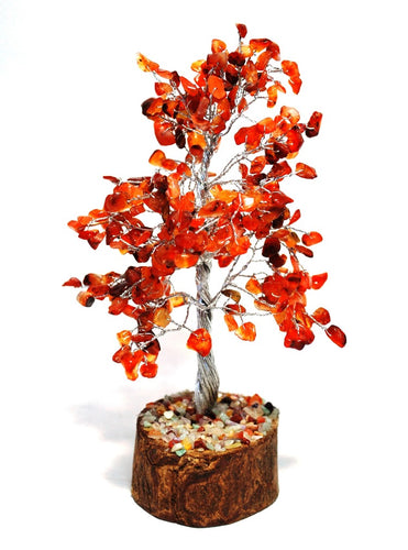 Carnelian Crystal Stone Wire Wrapped Gemstone Tree