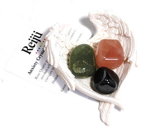 Natural Anxiety Relief Crystal Tumble Stone Healing Gift Set Beautifully Wrapped
