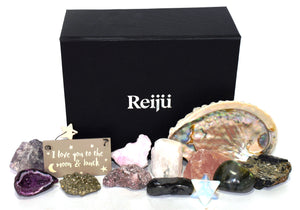 New! Beautiful Inside & Out Natural Crystal 14 Piece Gift Box Set