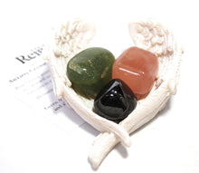 "Load image into Gallery viewer, Natural ""Anxiety"" Relief Crystal Tumble Stone Healing Gift Set Beautifully Wrapped"