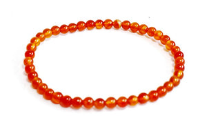 New! Natural Carnelian Crystal Stone Chips Bracelet Luxury Gift Boxed