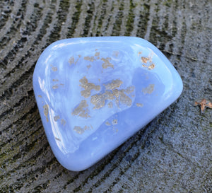 Natural Angelite Crystal Tumble Stone Gift Wrapped