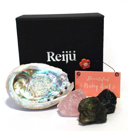 New! 'Beautiful Baby Girl' Natural Crystals Boxed Gift Set