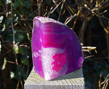 Load image into Gallery viewer, New! Pink Agate Natural Crystal Stone Book Ends 1111g Inc Gift Box