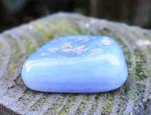 Load image into Gallery viewer, Natural Angelite Crystal Tumble Stone Gift Wrapped