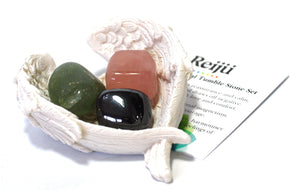 "Natural ""Anxiety"" Relief Crystal Tumble Stone Healing Gift Set Beautifully Wrapped"