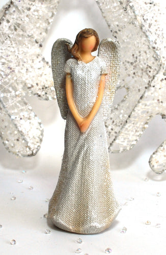 15 cm Glitter Guardian Angel Ornament Statue (Figure 1)