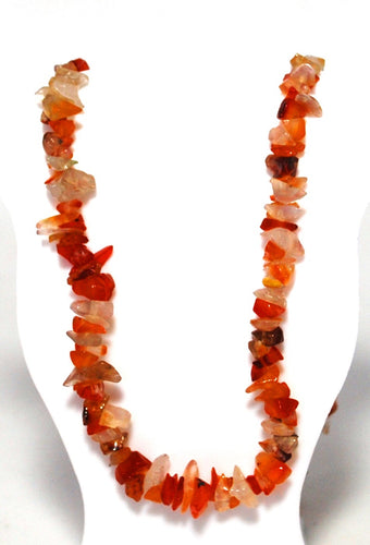 New! Carnelian Natural Crystal Stones Extendable Necklace