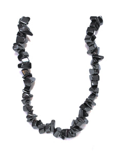 New! Hematite Crystal Stone Chips Extendable Necklace