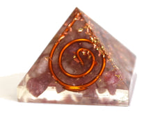 Load image into Gallery viewer, Lepidolite Crystal Orgone Pyramid - Krystal Gifts UK