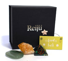 Load image into Gallery viewer, New! 'Good Luck' Natural Healing Crystal Gift Boxed Gift Set