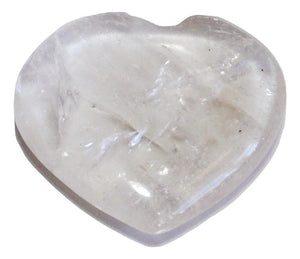 Natural Clear Quartz Crystal 'Master Healer' Polished Heart Palm Stone