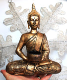 Large Gold Thai Buddha With Candle Holder Colour Gift Present 27cm 100939 - Krystal Gifts UK