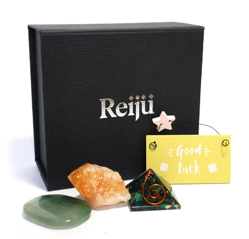 New! 'Good Luck' Natural Healing Crystal Gift Boxed Gift Set