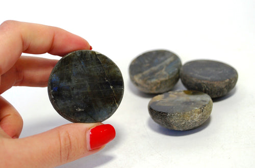 New! Natural Labradorite Crystal Stone Polished Face Dragon Egg (Non Shine)