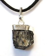 Load image into Gallery viewer, New! Natural Raw Small Black Tourmaline Crystal Stone Pendant & Cord Necklace