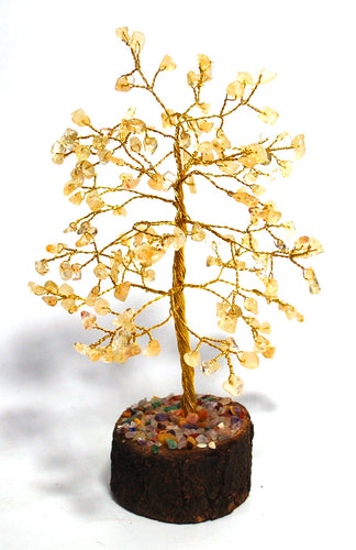Citrine Crystal Gem Stone Chip Wire Wrapped Tree