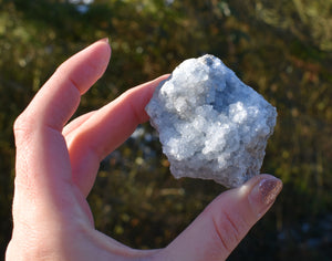 New! Celestite Celestine Blue Natural & Unique Small Raw Crystal Piece (40 - 100g approx)