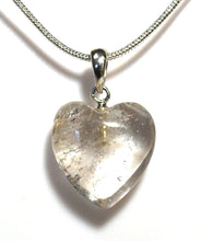 Load image into Gallery viewer, New! Smoky Quartz Natural Unique Polished Crystal Heart Pendant Necklace 925 Silver