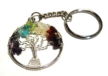Load image into Gallery viewer, Reiki Energy Charged Chakra Tree Of Life Keyring Chain Gift