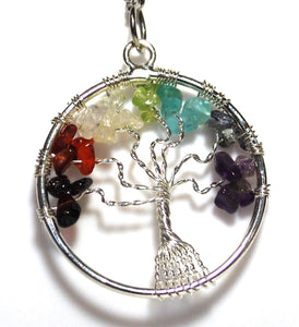 Reiki Energy Charged Chakra Tree Of Life Keyring Chain Gift
