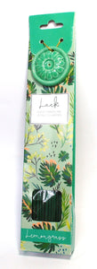 Lemongrass Incense Sticks (x 40) with Ceramic Holder - Gift of LUCK