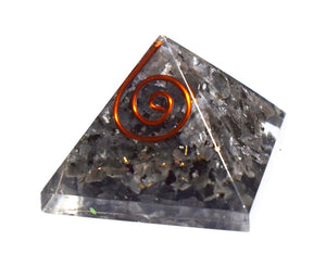 New! Small Natural Larvikite Crystal Stones Orgone Orgonite Pyramid