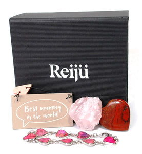 New! 'Best Mummy In The World' Natural Healing Crystal Gift Boxed Set