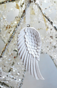 Beautiful White Angel Single Wing Hanging Decoration - Krystal Gifts UK