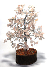 Load image into Gallery viewer, Rose Quartz Crystal Chip Wire Wrapped Gemstone Tree