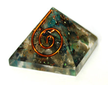 Load image into Gallery viewer, New! Small Orgone Chrysocolla Crystal Stone Pyramid