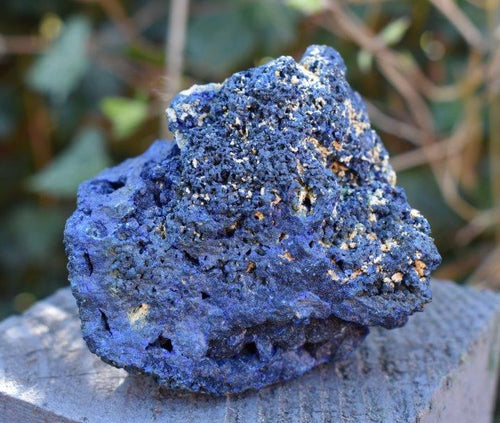 New! Natural Large Raw Azurite Crystal Stone Piece 268g Inc Gift Box & Benefits Tag